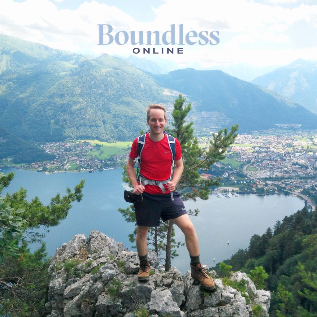Ben Dopplinger hiking in Europe